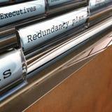 Redundanz-Plan, eine Firma umstrukturierend Stockbild