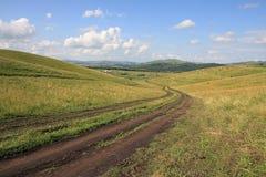 Redução de uma montanha. Fotografia de Stock