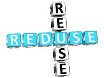 Reduse Reuse Crossword Royalty Free Stock Images