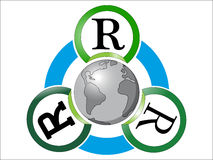 Reduse Reuse Recycle Stock Photo