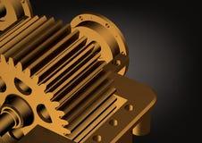 Redutor do ouro em um preto Imagens de Stock Royalty Free