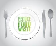 Reduza a ilustração do conceito do desperdício de alimento ilustração royalty free