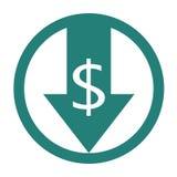 Reduza o ícone dos custos ilustração do vetor