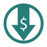 Reduza o ícone dos custos ilustração stock