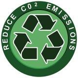 Reduza o logotipo do carbono Imagens de Stock Royalty Free