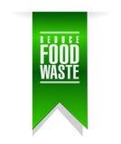 reduza o sinal da bandeira do desperdício de alimento ilustração do vetor
