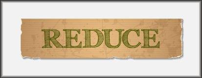 Reduza o texto grunge vazio no papel reciclado ilustração stock