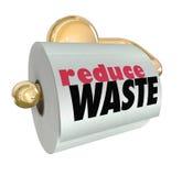 Reduza o uso Waste menos lixo do lixo do corte dos recursos ilustração royalty free