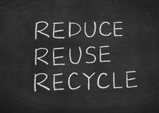 Reduza reusar recicl fotografia de stock royalty free
