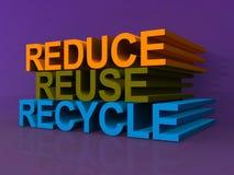 Reduza reusar recicl ilustração do vetor