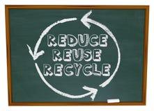 Reduza reusar recicl - o quadro imagens de stock royalty free