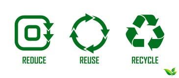 Reduza a reutilização reciclam o conceito ilustração do vetor