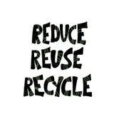 Reduza a reutiliza??o reciclam o conceito Projeto do texto do vetor ilustração royalty free