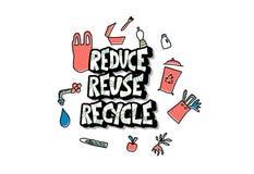 Reduza a reutiliza??o reciclam o conceito Projeto do vetor ilustração stock