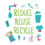 Reduza a reutiliza??o reciclam o conceito Projeto do vetor ilustração do vetor