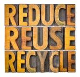 Reduza, reutilize e recicle - o conceito da conservação do recurso fotos de stock