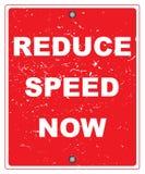 Reduza a velocidade agora ilustração do vetor