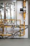 Reduzierung des Drucks des Gases Stockfotos