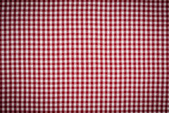RedWhite Gingham-Checkered Hintergrund Vignetted Stockfoto
