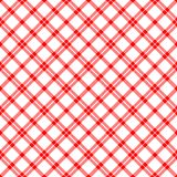 RedWhitePlaid Royalty Free Stock Photo
