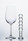 Redwine Glas con il Dildo Immagini Stock