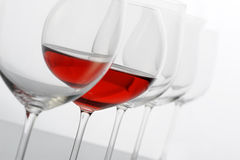 Redwine glass Stock Images