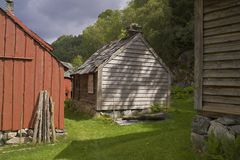 Redwood barn Stock Images