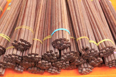 Redwood chopsticks Royalty Free Stock Photography