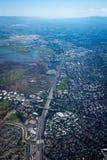 Redwood City vom Himmel stockfotografie