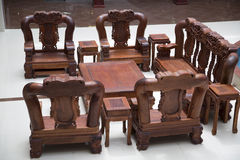 Redwood  furniture Royalty Free Stock Photos
