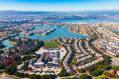 Redwood Shores. Aerial view of Redwood Shores in Californa Royalty Free Stock Photography