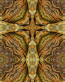 Redwood trunk cross Stock Image