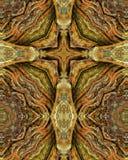 Redwood trunk cross Stock Image