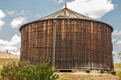 Redwood Water Tank Stock Photo