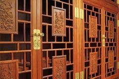 Redwoodträdmöblemang, konststil för traditionell kines Arkivbild