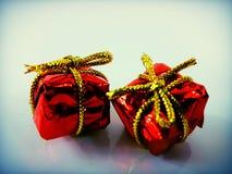 Redxmas de Noël de décoration de Noël d'anniversaire de boîte de cadeaux de GIF Photos libres de droits
