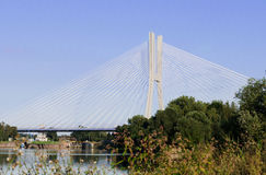 Redzinski Bridge in Wroclaw, close view Stock Photo