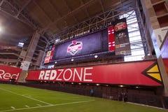 美国橄榄球联盟亚利桑那红雀橄榄球Redzone 免版税图库摄影