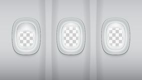 Reealistic Light Gray Plane Windows. Ready Template. EPS10 Vector Royalty Free Stock Photography
