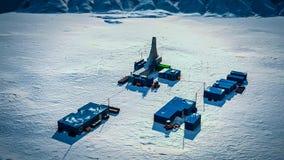 Reearch station station på för Antarktis, Antarktis royaltyfri fotografi