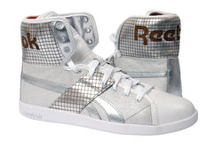 reebok穿上鞋子体育运动 免版税库存照片