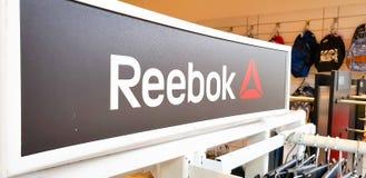 Reebok logo arkivfoton