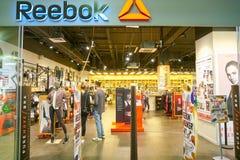 Reebok shoppar royaltyfria bilder