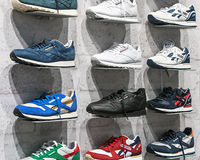 Reebok Sports shop in Moscow Royalty Free Stock Images