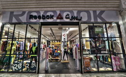 Reebook in Villaggio Mall in Doha Stock Images