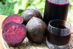 Reed beetroot juice. Beetroot juice made with fresh fruits from home garden Stock Photography