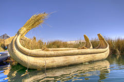 Reed Boat Royalty Free Stock Photos