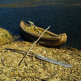 Reed boat Lake Titicaca Stock Photos