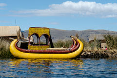 Reed Boat Royaltyfri Foto