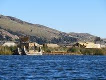 Reed Boat Royalty-vrije Stock Afbeeldingen